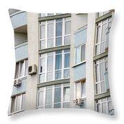 Building Facade Throw Pillow