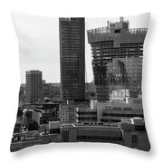 Building In Construction Throw Pillow