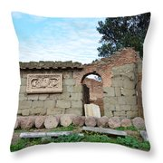 Building Of Ancient Rom Throw Pillow
