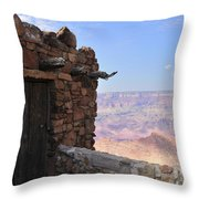 Building On The Grand Canyon Ridge Throw Pillow