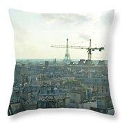 Building Paris Throw Pillow