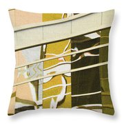 Building Reflection Abstract Color. Throw Pillow