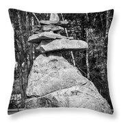 Building Rocks Throw Pillow