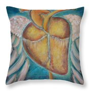 Building Wings Throw Pillow