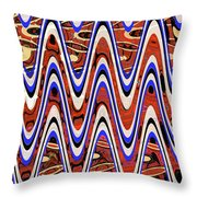Building With Reflections Abstract Throw Pillow
