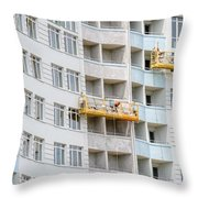 Building Workers Throw Pillow