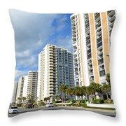 Buildings In Florida Throw Pillow