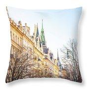 Buildings In Prague Throw Pillow