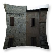 Buildings On A Side Street In Siena Throw Pillow
