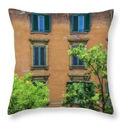 Buildings Opposite The Vatican Museum Throw Pillow