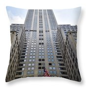 Builing And Flag Throw Pillow