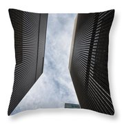 Builing Into The Cloud Throw Pillow