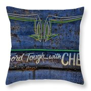 Built Ford Tough With Chevy Stuff Throw Pillow