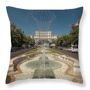 Bukarest Government Palace Throw Pillow