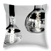 Bulbs - Black And White Throw Pillow