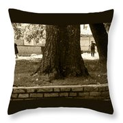 Bulgarian Afternoon Stroll Throw Pillow