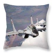 Bulgarian And Polish Air Force Mig-29s Throw Pillow