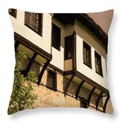 Bulgarian House Throw Pillow