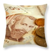 Bulgarian Money Throw Pillow