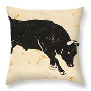 Bull 1 Throw Pillow