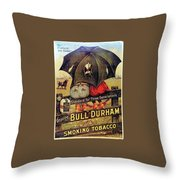 Bull Durham Smoking Tobacco Throw Pillow