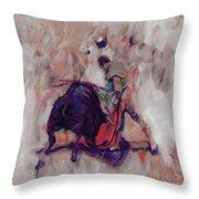 Bull Fight 009k Throw Pillow