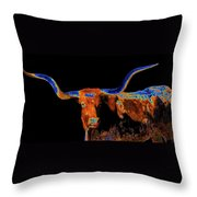 Bull II   14616 Throw Pillow