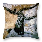 Bull: Lascaux, France Throw Pillow