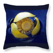Bull Lily Throw Pillow