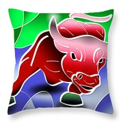 Bull Market Throw Pillow by Stephen Younts