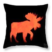 Bull Moose Pumpkin Throw Pillow