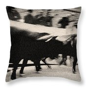 Bull Run 3 Throw Pillow