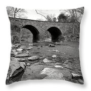 Bull Run Bridge Throw Pillow