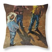Bull Session Throw Pillow
