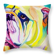 Bulldog - Bully Throw Pillow by Alicia VanNoy Call