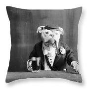 Bulldog, C1905 Throw Pillow