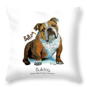 Bulldog Pop Art Throw Pillow