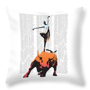 Bullerina Throw Pillow