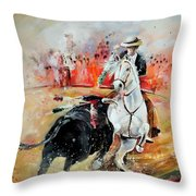 Bullfight 3 Throw Pillow