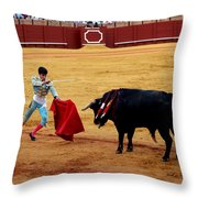 Bullfighting 22 Throw Pillow