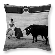 Bullfighting 22b Throw Pillow