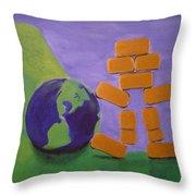 Bullion Supports The World Throw Pillow