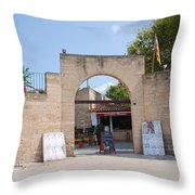 Bullring Entrance In Alcudia Throw Pillow