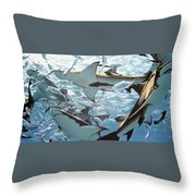Bullsharks Throw Pillow