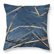 Bulrush Stalks Throw Pillow