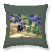 Bumble Bee Delight Throw Pillow