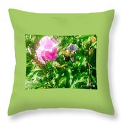 Bumble Bee In Mid Flight Throw Pillow