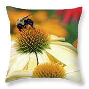 Bumble Bee On Top Throw Pillow