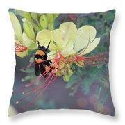 Bumblebee Before Dawn 2 Throw Pillow