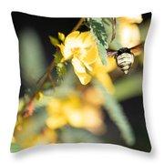 Bumblebee Heading Into Work Throw Pillow
